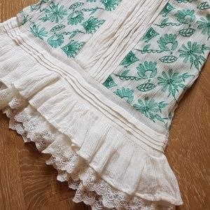 Anthropologie Tops - Lilka embroidered ruffle tank S (Anthropologie)